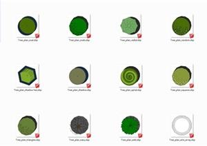 平面图2d植物样式