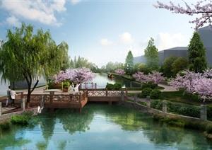 中式村庄规划设计效果图