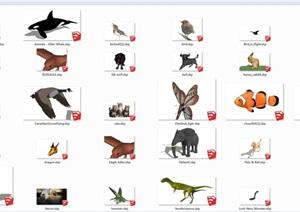 多种动物素材SU(草图大师)模型