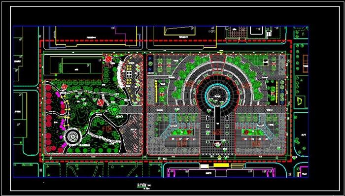 大学校园景观规划设计su模型含cad施工图及效果图