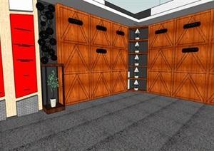 现代风格纪念馆展览馆室内设计SU(草图大师)模型