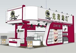 某现代风格商品展览厅设计SU(草图大师)模型