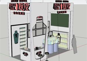 鸡尾酒展厅设计SU(草图大师)模型