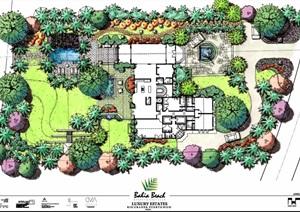 园林景观设计别墅庭院jpg彩色平面图220套