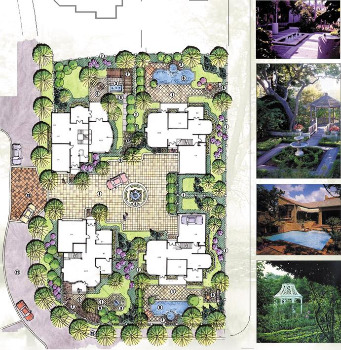 园林景观设计别墅庭院jpg彩色平面图220套[原创]