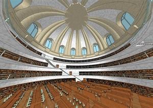 欧式风格大礼堂室内设计SU(草图大师)模型