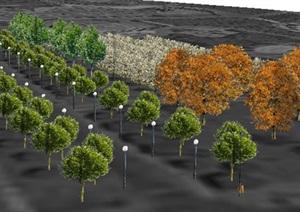 46个不同的树木植被带SU(草图大师)模型