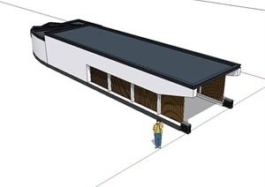 现代独特车库入口廊设计SU(草图大师)模型