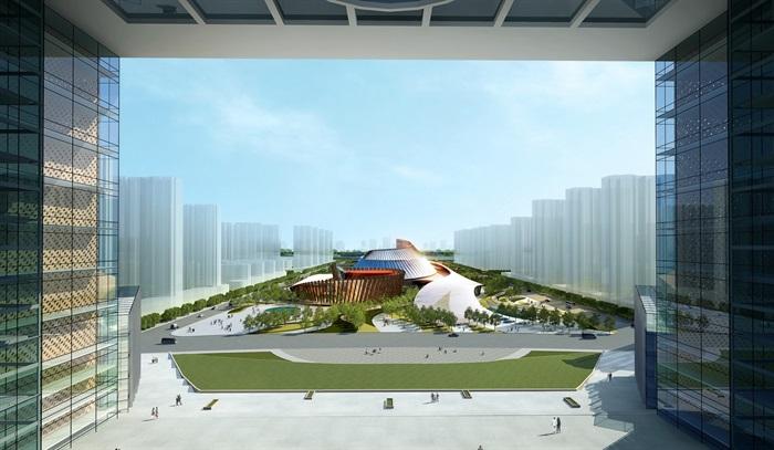 大剧院音乐厅电影院文化中心方案设计(含cad,效果图)