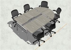 精品会议桌椅SU(草图大师)模型