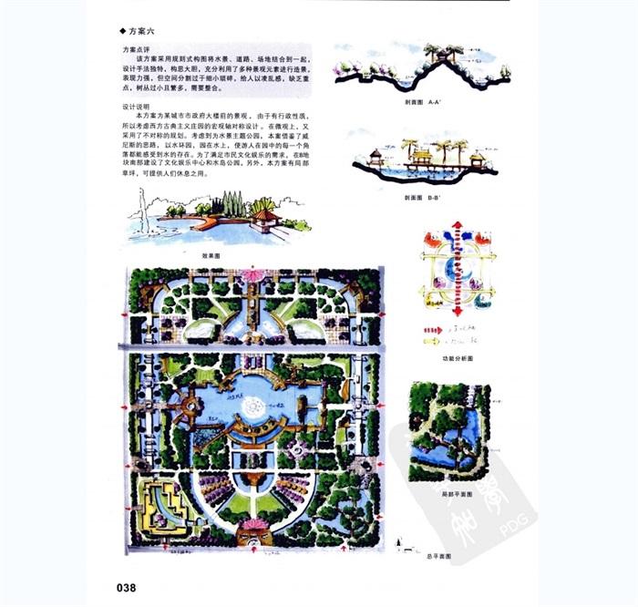 某公园景观快题方案设计jpg方案方法与评析