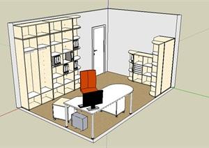 某个人办公室设计SU(草图大师)模型