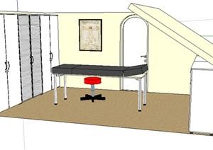 某医疗室内空间设计SU(草图大师)模型