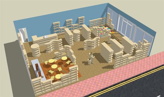某现代详细的商业空间设计su模型[原创]