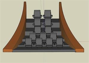 电影院座位设计SU(草图大师)模型
