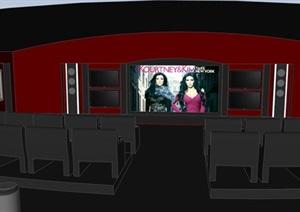 小型电影院空间设计SU(草图大师)模型