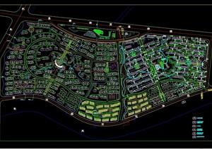 现代详细住宅小区规划设计cad总平面图-园林景观设计完整方案项目资
