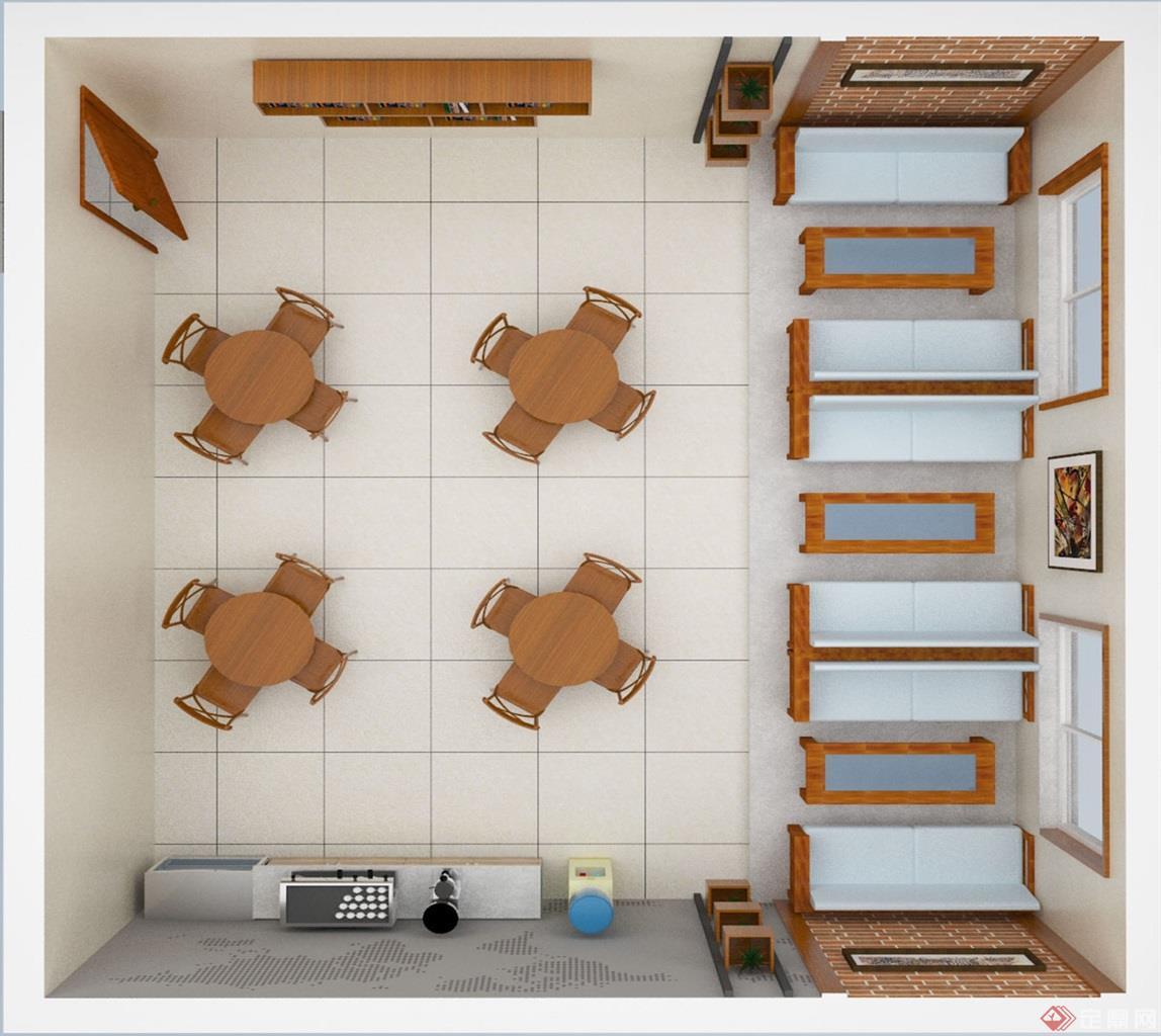 员工休息室设计图展示