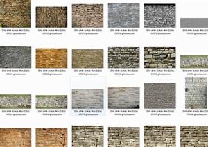 SU(草图大师)300种常用天然石材质贴图大全