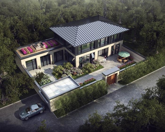 中式别墅设计cad施工图及效果图