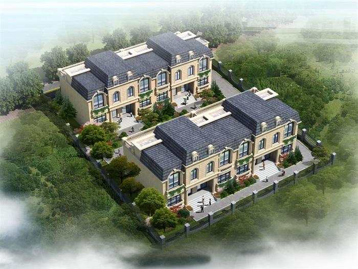 新古典联排别墅详细设计cad施工图