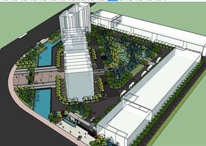 工厂整套景观完整设计SU(草图大师)模型
