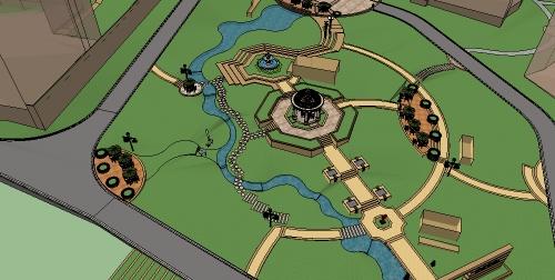 某新古典详细的住宅小区景观jpg方案文本及su模型