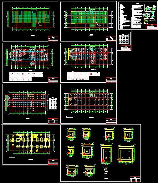 六层钢框架办公楼设计(含计算书建筑结构图)(8)