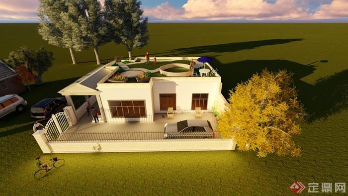别墅,住宅建筑,围墙