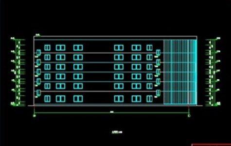 六层钢框架办公楼设计(含计算书、建筑结构图)(17)