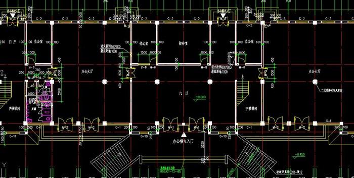 毕业设计—四层框架办公楼建筑设计图[原创]