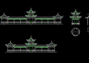 八角亭独特设计cad方案