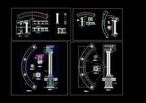 欧式廊柱设计cad大样图
