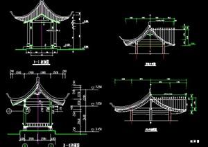 古典中式风格亭廊施工图