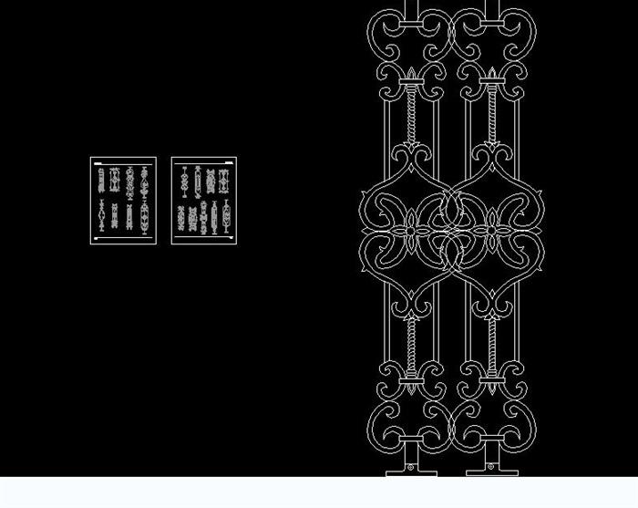 不同的栏杆图块公章图块cad铁花[原创]2014cad做方案如何图片