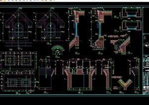 某别墅区石材装饰CAD施工图