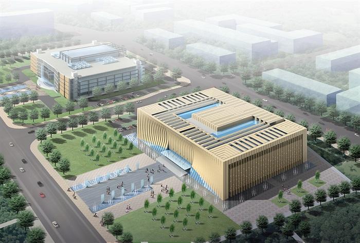 博物馆展览馆文化中心建筑方案设计(含CAD平立剖效果图)(1)