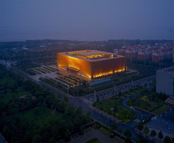 博物馆展览馆文化中心建筑方案设计(含CAD平立剖效果图)(3)