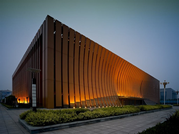 博物馆展览馆文化中心建筑方案设计(含CAD平立剖效果图)(4)