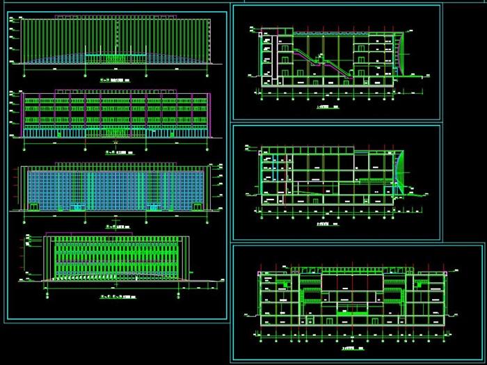 博物馆展览馆文化中心建筑方案设计(含CAD平立剖效果图)(6)