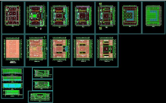 博物馆展览馆文化中心建筑方案设计(含CAD平立剖效果图)(7)