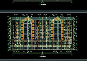 一梯四户多层住宅cad施工图 -设计素材下载