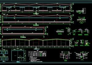 的建筑、结构、水电全套cad施工图纸-施工图工业厂房建筑项目