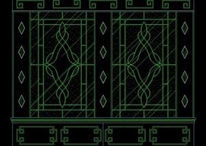 多种不同的室内墙体装饰设计cad图库