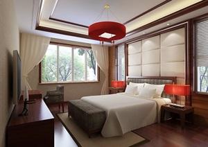 卧室空间详细完整设计3d模型