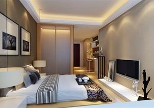 现代卧室装饰空间设计3d模型