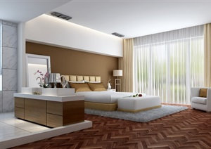 住宅室内空间卧室设计3d模型