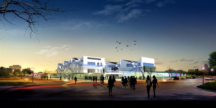 建筑系建筑楼设计su模型及cad方案