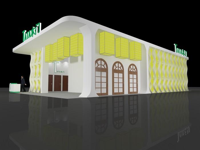 木门家具展览展示资料展厅3D模型