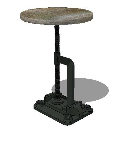 工业风格圆凳设计su模型[原创]